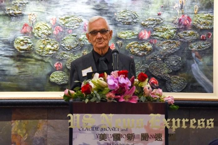 名家畫對話藝術館主席 Vincent Robbins。龐可陽攝