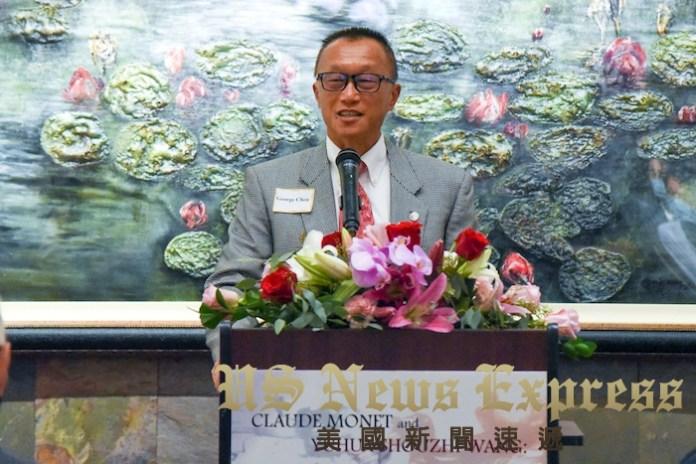 托倫斯市議員陳光豪。龐可陽攝